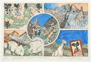 Sale 8492A - Lot 5098 - John Wolseley (1938 - ) - Spanish Goat Postcard 9 x 14cm
