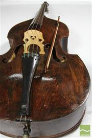 Sale 8501 - Lot 42 - Full Size Double Bass with Bow