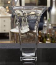 Sale 8709 - Lot 1081 - A bohemian glass trumpet vase H x 35cm