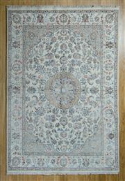 Sale 8717C - Lot 62 - Indo Persian Nain Silk Inlaid 167cm x 242cm