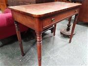 Sale 8848 - Lot 1066 - George III Mahogany Side Table, with frieze drawers & on turned legs