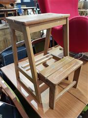 Sale 8863 - Lot 1068 - Timber Step Stool