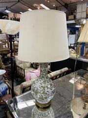 Sale 8876 - Lot 1053 - Floral Ceramic Table Lamp