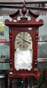 Sale 8925 - Lot 1035 - A timber wall clock by Palaris