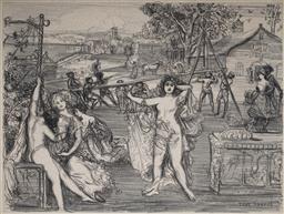 Sale 9038 - Lot 557 - Charles Conder (1868 - 1909) - The Maypole, 1905 29 x 39 cm (frame: 55 x 63 x 3 cm)