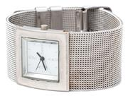 Sale 9071F - Lot 61 - A DKNY WOMENS WATCH, with mesh band and square face, size S-m