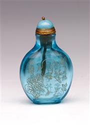 Sale 9078 - Lot 60 - A Blue Glass Snuff Bottle