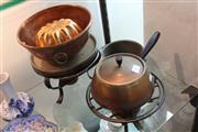 Sale 8327 - Lot 62 - Copper Double Handle Bowl & Other Copper Wares incl Mould