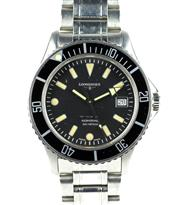 Sale 8402W - Lot 94 - LONGINES ADMIRAL AUTOMATIC DIVERS WATCH; black dial, centre seconds, date, rotating bezel, screw down crown on a 25 jewell cal. L.63...