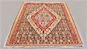 Sale 8438K - Lot 59 - Fine Persian Senneh Kilim | 152x131cm, Pure Wool, Authentic Persian Senneh Kilim handwoven in the city of Senneh, Iran. The finest o...