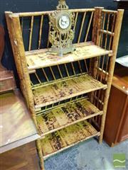 Sale 8545 - Lot 1013 - Tiger Cane Four Tier Open Shelf