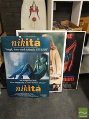 Sale 8552 - Lot 2064 - Three Movie Prints on Board incl. Nikita, Judge Dredd & Manon of the Spring