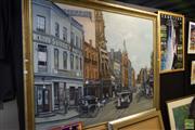 Sale 8569 - Lot 2077 - Lucy Manche, Street Scene, oil, SLR 120x151cm