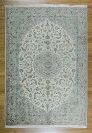 Sale 8643C - Lot 23 - Super Fine Persian Tabriz Silk Inlaid 280cm x 197cm