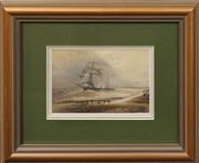 Sale 8668 - Lot 2005 - John Harmsworth (C19th) - The Wreck of the Ophir at Laucing, 1896, watercolour, 10 x 15cm, signed, dated and inscribed verso -