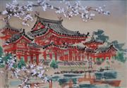Sale 8657A - Lot 5065 - Japanese School (C20th) - Byodo-in Temple, c1940 20 x 25cm