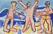 Sale 8708A - Lot 531 - Joe Furlonger (1952 - ) - Untitled (Three Figures), 1986 60.5 x 91cm