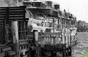 Sale 8721A - Lot 91 - Artist Unknown - Bellubera Ferry - fire breaks out at Kurraba Point 1936 18 x 28cm