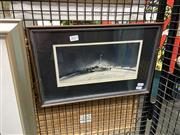 Sale 8906 - Lot 2033 - Hall - 200 (Parliment House) aquatint ed. 3/20, 27 x 41.5 (frame), signed