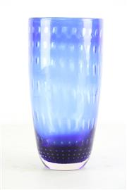 Sale 8957 - Lot 85 - Blue art glass vase with bubble effect decoration (H28cm)