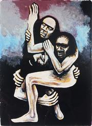 Sale 8976A - Lot 5051 - David Boyd (1924 - 2011) - Truganini and the Sealer 40.5 x 29.5 cm (frame: 89 x 65 x 4 cm)