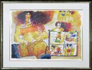 Sale 8286 - Lot 536 - Theo Tobiasse (1927 - 2012) - La Puissance des Sortileges 72 x 102cm