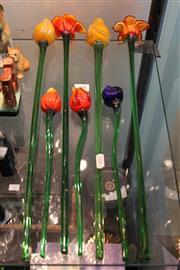 Sale 8304 - Lot 68 - Art Glass Flowers