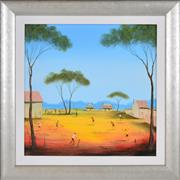 Sale 8382 - Lot 593 - Kym Hart (1965 - ) - Fun in the Outback 40 x 40cm