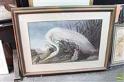 Sale 8468 - Lot 2031 - Artist Unknown - Crane and Lizard frame size: 93 x 124cm