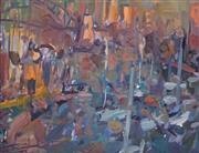 Sale 8675A - Lot 5003 - Michael White (1967 - ) - Colour Study at Dusk (Lavender Bay, Sydney), 2000 33.5 x 43cm