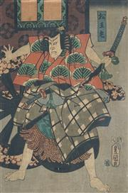 Sale 8892 - Lot 590 - Japanese School - Samurai 36 x 25 cm