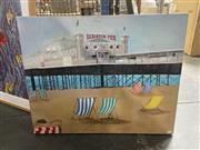 Sale 8906 - Lot 2039 - Artist Unknown - Brighton Pieracrylic on canvas,
