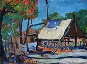 Sale 8976A - Lot 5052 - Roy Dalgarno (1910 - 2001) - The Camp, 1941 29 x 39 cm (frame: 38 x 48 x 3 cm)