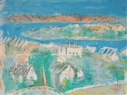 Sale 9001 - Lot 553 - Lloyd Rees (1895 - 1988) - View From Artists Verandah, 1985 53.5 x 75.5 cm (sheetsize: 67 x 102 cm)