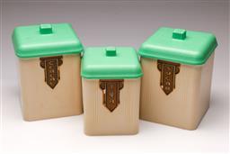 Sale 9114 - Lot 7 - Vintage graduated kitchen canisters
