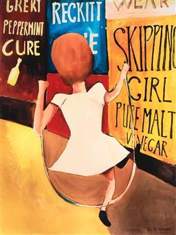 Sale 9252A - Lot 5093 - CHARLES BLACKMAN (1928 - 2018) Skipping Girl archival pigment print, ed. P/P 38 x 38 cm (frame: 62 x 51 x 3 cm) gallery frame