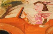 Sale 8504 - Lot 513 - Geoffrey Proud (1946 - ) - Fast Driving 22.5 x 34.5cm
