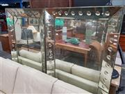 Sale 8684 - Lot 1031 - Pair of 1930s Mirrors, Framed
