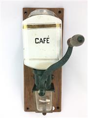 Sale 8730C - Lot 24 - Vintage Wall Hanging Coffee Grinder, length: 33cm
