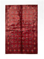 Sale 8770C - Lot 96 - A Persian Turkaman Silk Pile On Cotton, 240 x 160cm