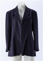 Sale 8910F - Lot 50 - A Ralph Lauren navy pinstripe blazer, size 6