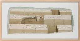 Sale 9125 - Lot 541 - John Kelly (1965 - ) Fragment, 2000 oil on canvas 30 x 77 cm (irregular) (frame 95 x 49 x 4 cm) signed and dated lower left