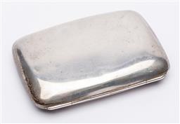 Sale 9170H - Lot 99 - A sterling silver cigarette case, Birmingham, by CSC & Co., Length 8cm