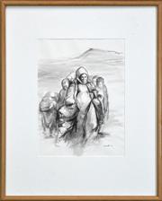 Sale 8316 - Lot 547 - Yvonne Audette (1930 - ) - Refugees, 1991 38 x 28cm