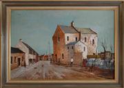 Sale 8313A - Lot 61 - Ric Elliot - Terraces at Surry Hills 61 x 90cm