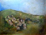 Sale 8563T - Lot 2022 - Lesley Haslewood Pockley Tuscany, oil on board, 45 x 58.5cm, signed lower right