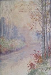Sale 8657A - Lot 5062 - Tokusaburo Kobayashi (1884 - 1949) - Japanese Forest, c1900 25 x 16cm