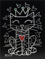 Sale 8665 - Lot 535 - Romero Britto (1963 - ) - Royal Cat, 2015 75 x 60cm