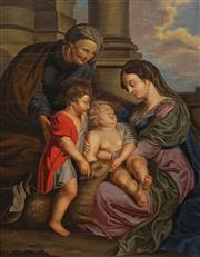 Sale 8692 - Lot 596 - Italian School (C18th) - Madonna 41 x 31cm