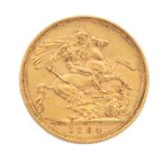 Sale 8855H - Lot 45 - 1894 gold sovereign weight approx 7.95g